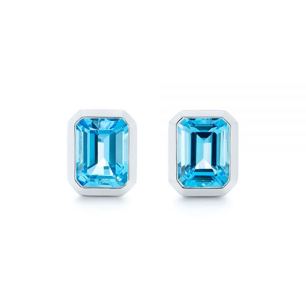 Blue-Topaz-Emerald-Cut-Stud-Earrings